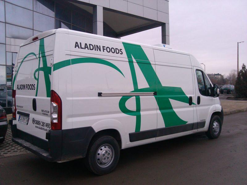Брандиране бус Aladin Foods